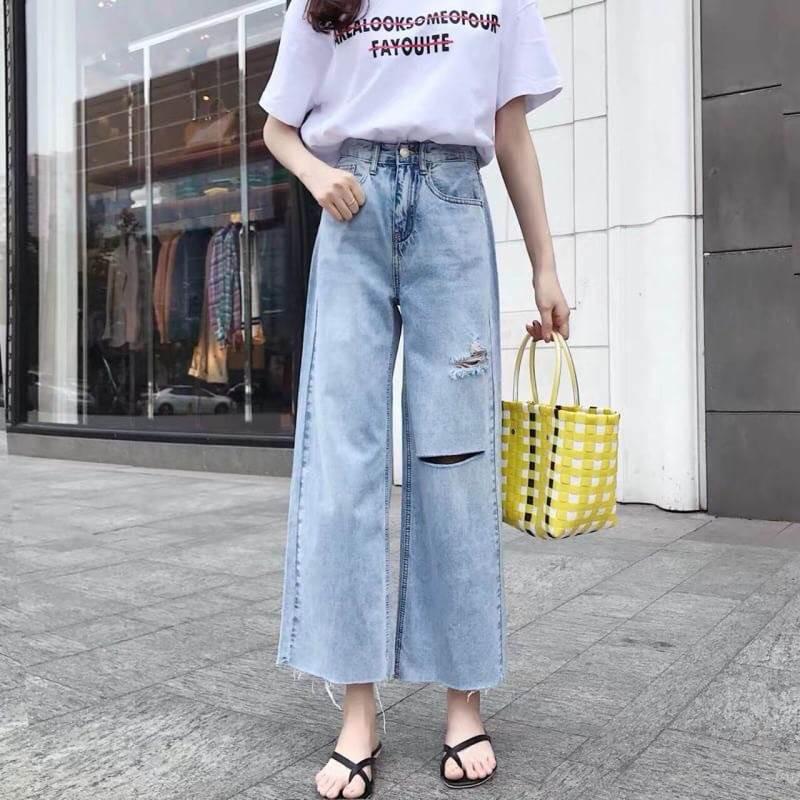 ประเภททรงกางเกงยีนส์-กางเกงยีนส์ขากระบอก
