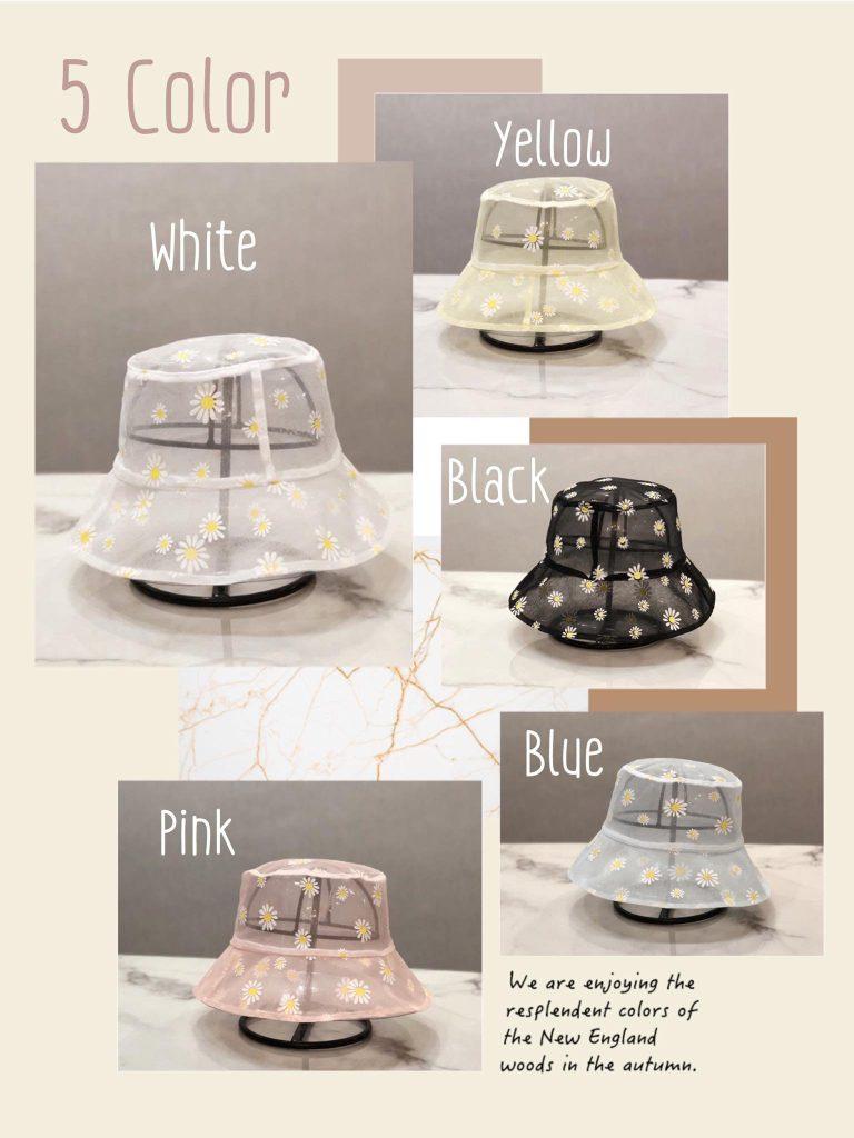 เทรนด์ดังจากเกาหลี หมวกผ้าลูกไม้ซีทรู