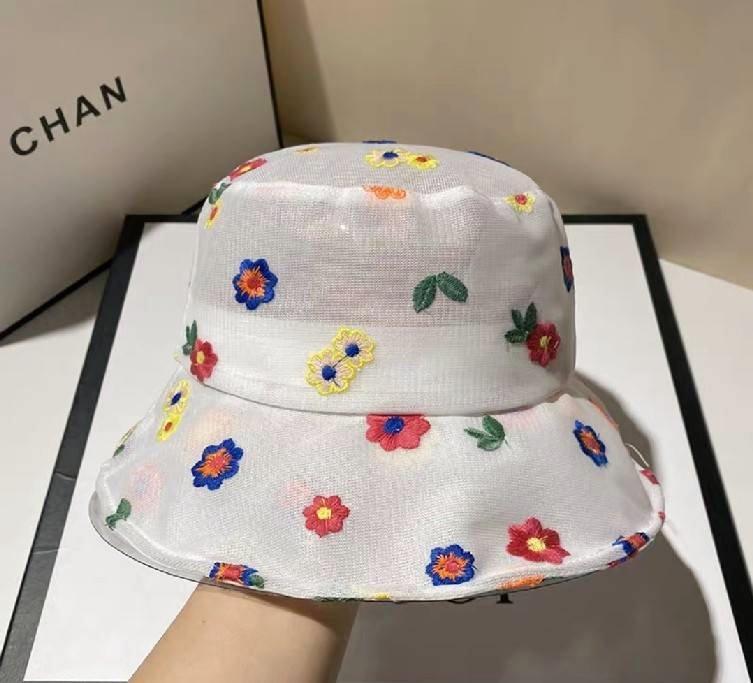 หมวกผ้าลูกไม้ซีทรู สีสันสวยงามมาก