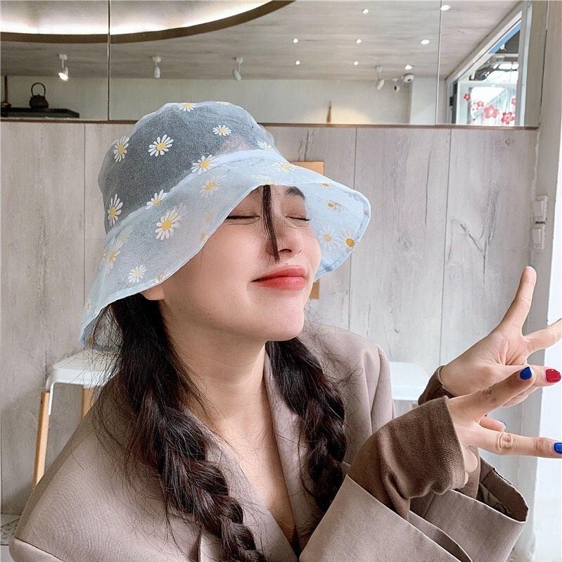 หมวกผ้าลูกไม้ซีทรู แค่ใส่ก็ดูน่ารัก