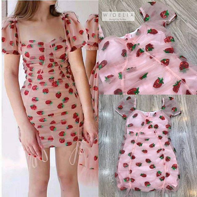 เดรสสตอเบอรี่ (Strawberry dress) แฟชั่นสายหวาน สีสันสวยสดใส น่ารักคิ้วๆ