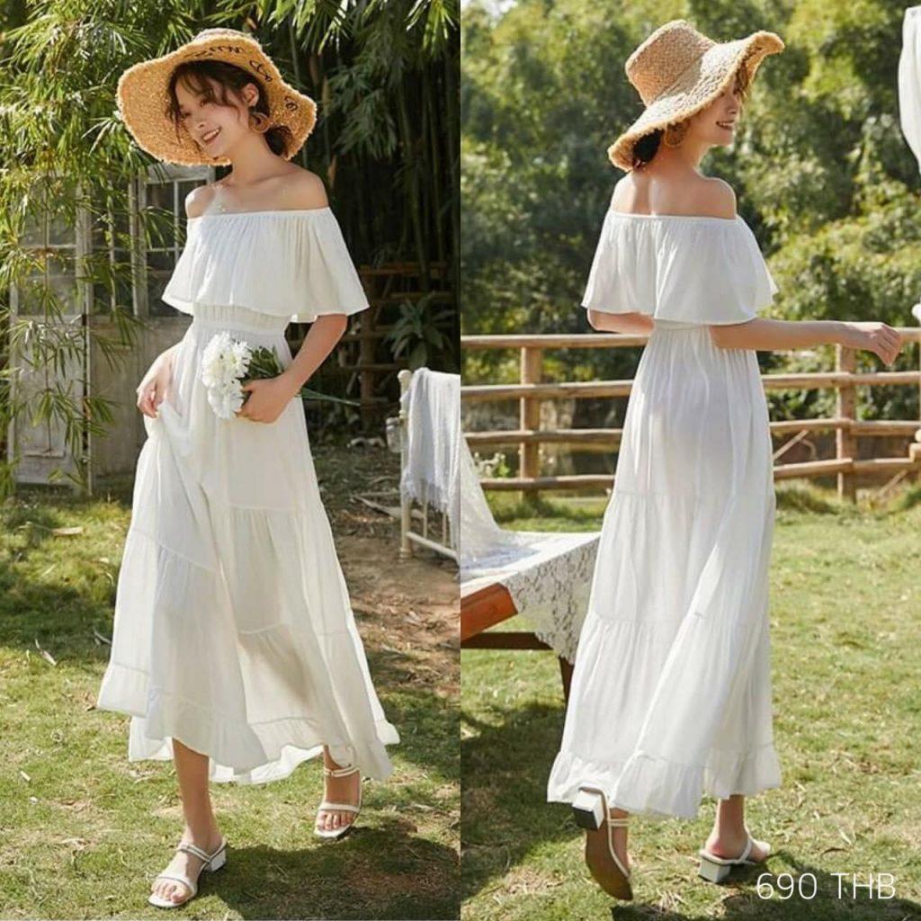 เดรสสีขาว (White dresses) เพียงชุดธรรมดา