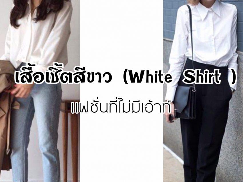 เสื้อเชิ้ตสีขาว (White Shirt ) มีติดตู้ไว้คุ้มสุด
