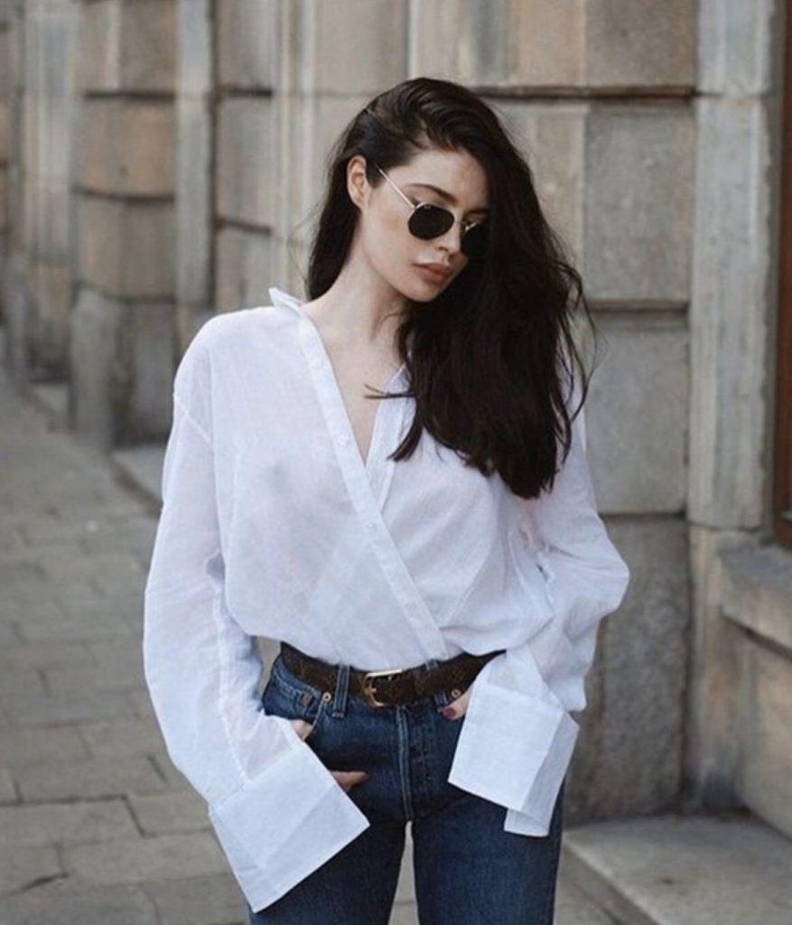 เสื้อเชิ้ตสีขาว มิกซ์กับอะไรก็สวย