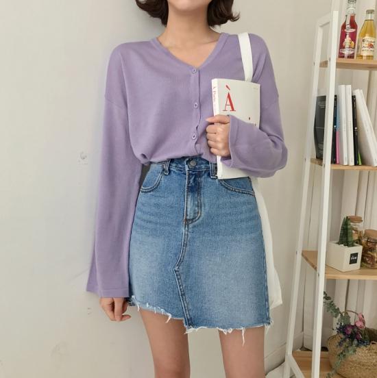 แฟชั่นสีม่วง (Purple Girl)  แต่งม่วงยังไง? ให้สวยแบบคิวท์ๆง่ายๆกับกระโปร่ง