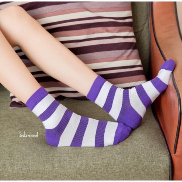 แฟชั่นสีม่วง (Purple Girl)  แมทช์กับถึงเท้าม่วง