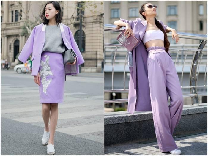 แฟชั่นสีม่วง (Purple Girl)  แต่งม่วงยังไง? ให้สวยแบบคิวท์ๆ กับชุดสูท