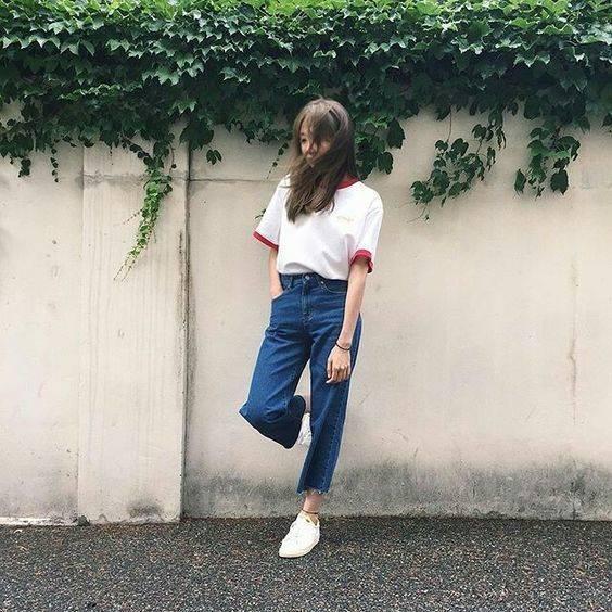 แฟชั่นเสื้อยืดกางเกงยีนส์ ที่สุดเท่ของสาวยุค 2020