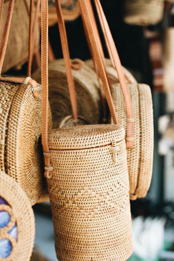 แฟชั่น กระเป๋าสาน ทรงถังสวยๆ