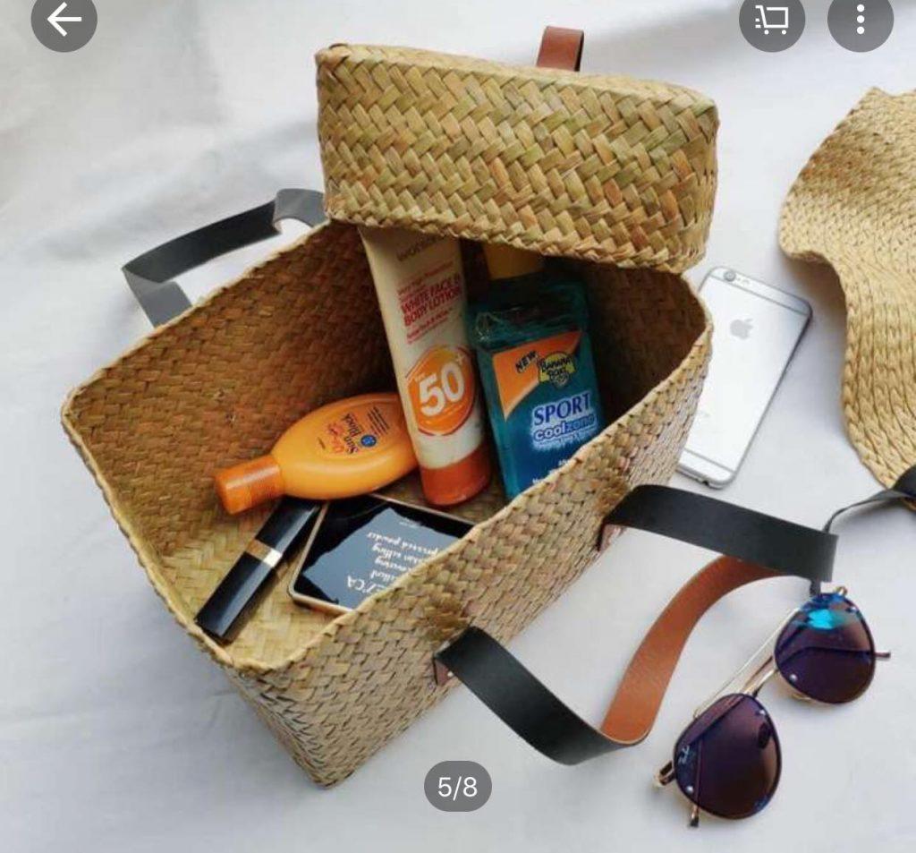 แฟชั่น กระเป๋าสาน 2020 ใหญ่ๆสวยๆ