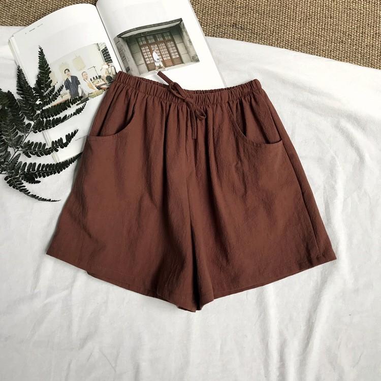 กางเกงผ้าขาสั้น Mix กับอะไรก็ง่าย เทรนด์ใส่สบาย ผ้าลินิน