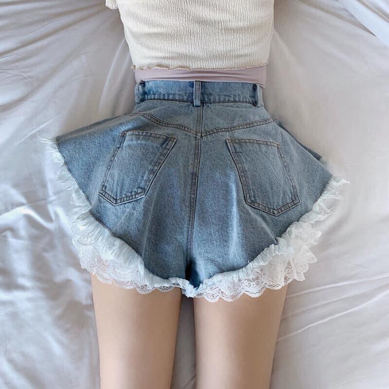 กางเกงยีนส์ขาสั้น 2020 น่ารักๆ