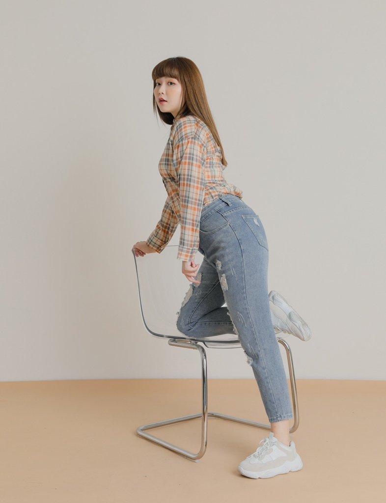 กางเกงยีนส์ทรงบอย สาวอวบก็ใส่สวย