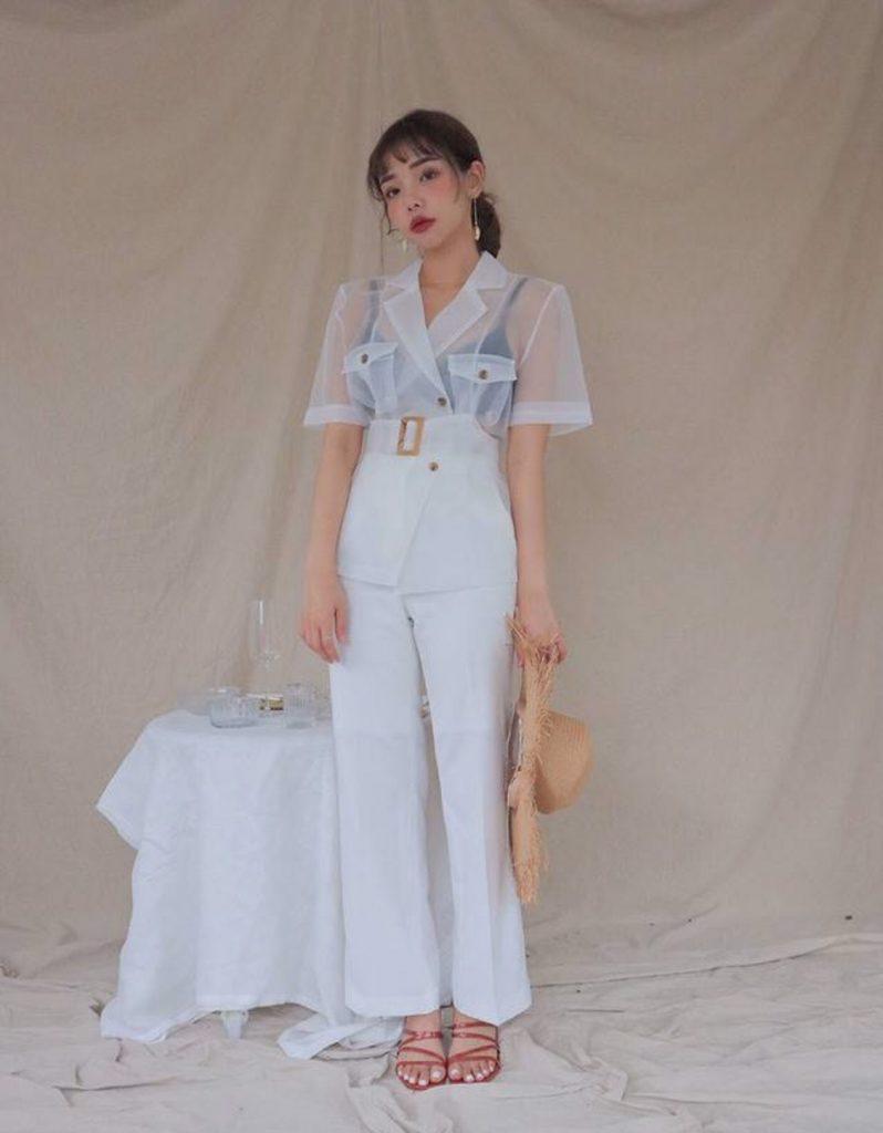 กางเกงสีขาว เทรนด์สวยลุคคุณหนู เรียบหรูดูแพง2020