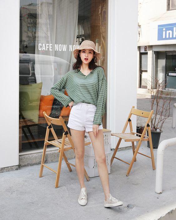กางเกงสีขาว เกาหลีสุดๆ