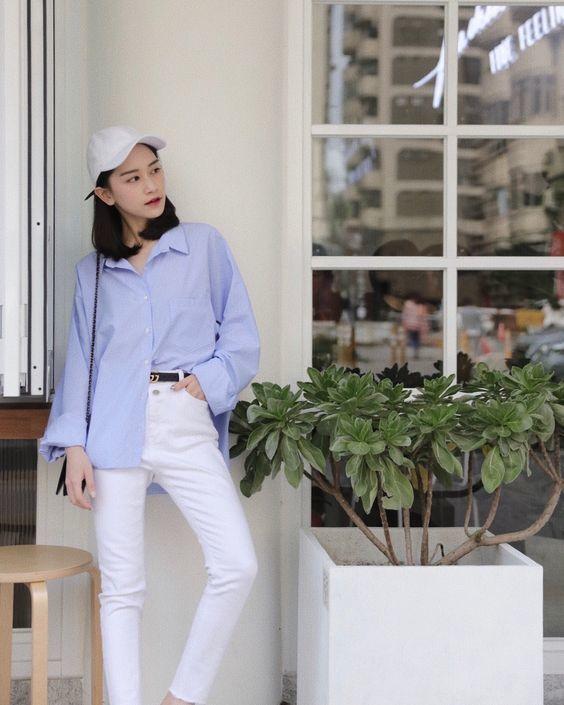 กางเกงสีขาว ขาเดฟ เทรนด์สวยลุคคุณหนู เรียบหรูดูแพง