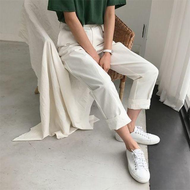 กางเกงสีขาว สไตล์สวย 2020
