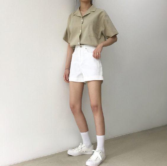กางเกงสีขาว แนวเกาหลี