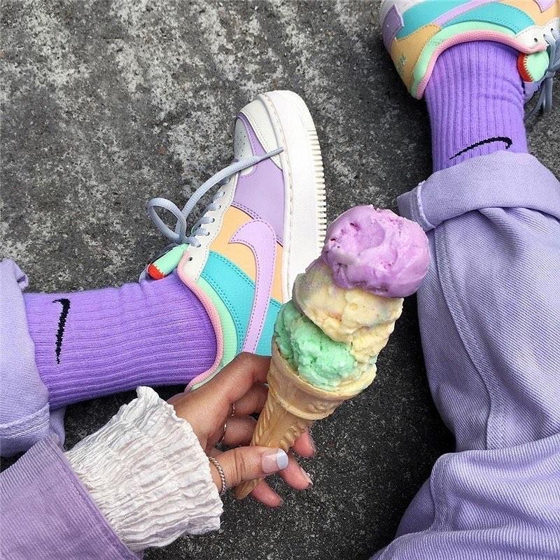 ถุงเท้าสีพาสเทล (Pastel socks)