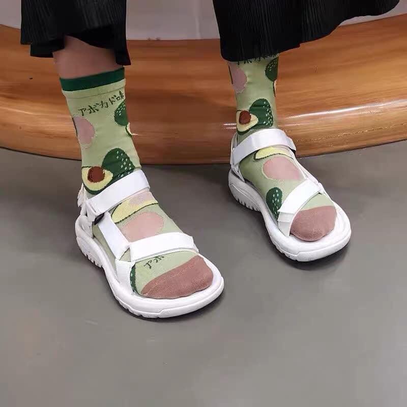 ถุงเท้าสีพาสเทล น่ารัก