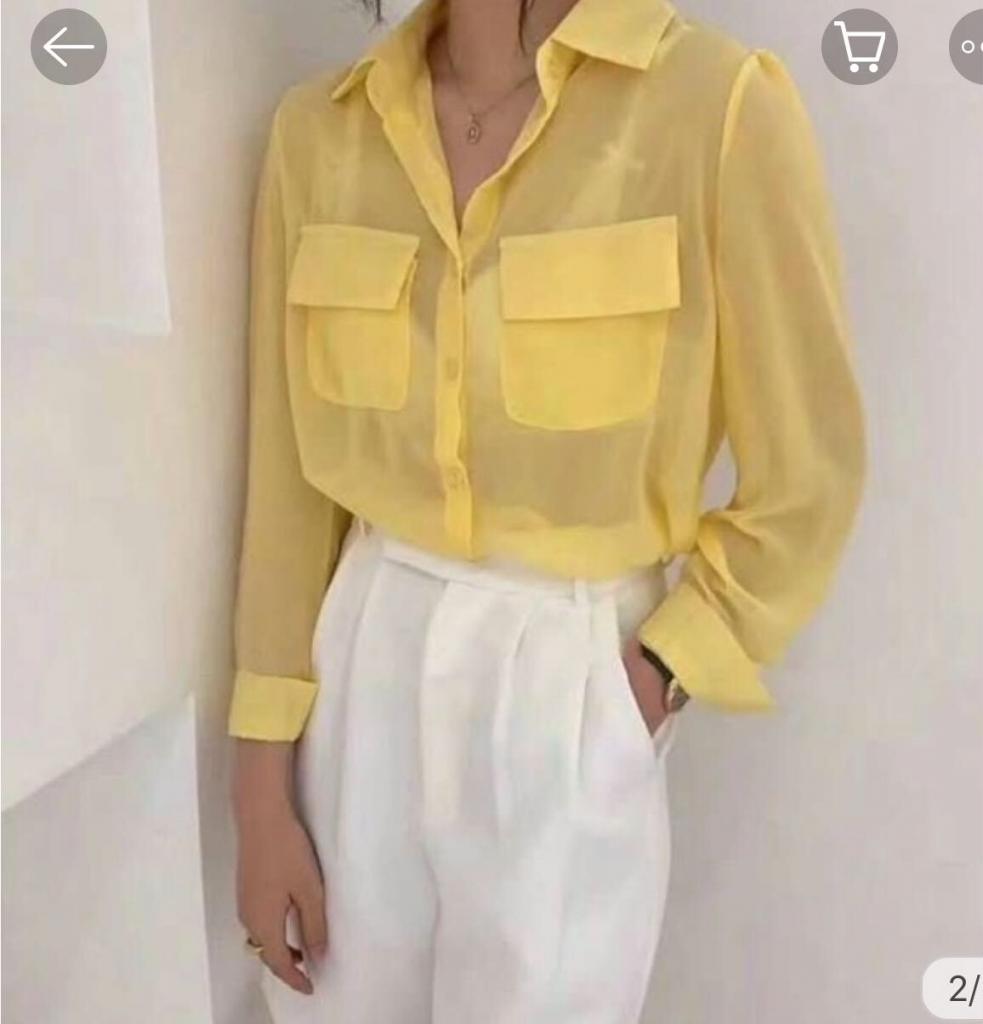 เสื้อเชิ้ตผ้าชีฟอง ไอเทมสวย ใส่ได้หลายแบบ สวยแซ่บ 2020