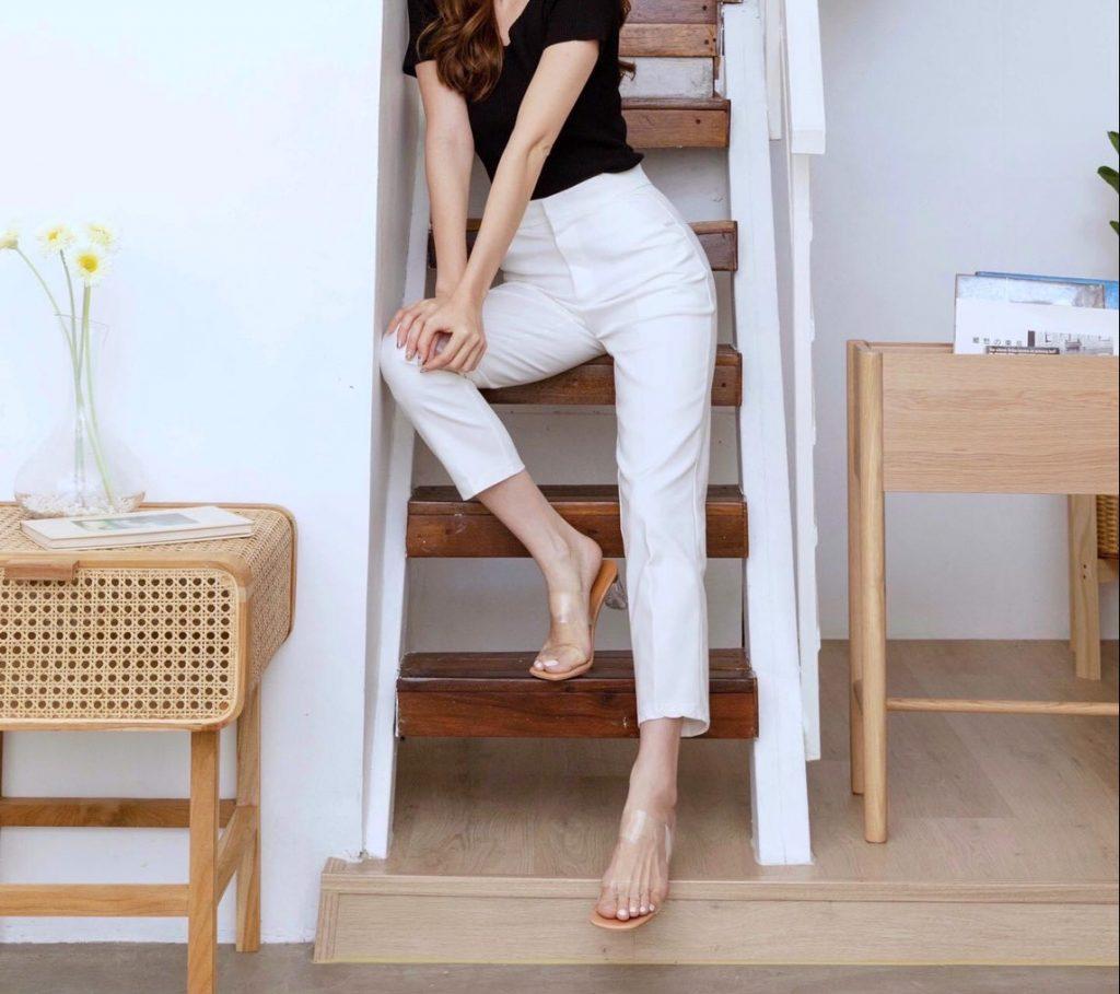 กางเกงสีขาว เทรนด์สวยลุคคุณหนู เรียบหรูดูแพง 2020 มาแรง