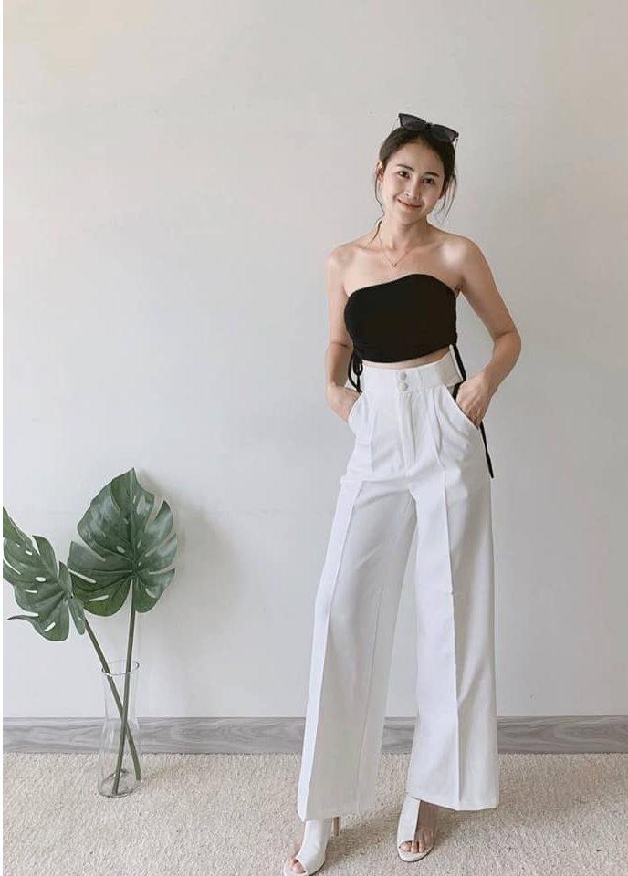 กางเกงสีขาว ใส่ยังไงก็สวยทุกสไตล์