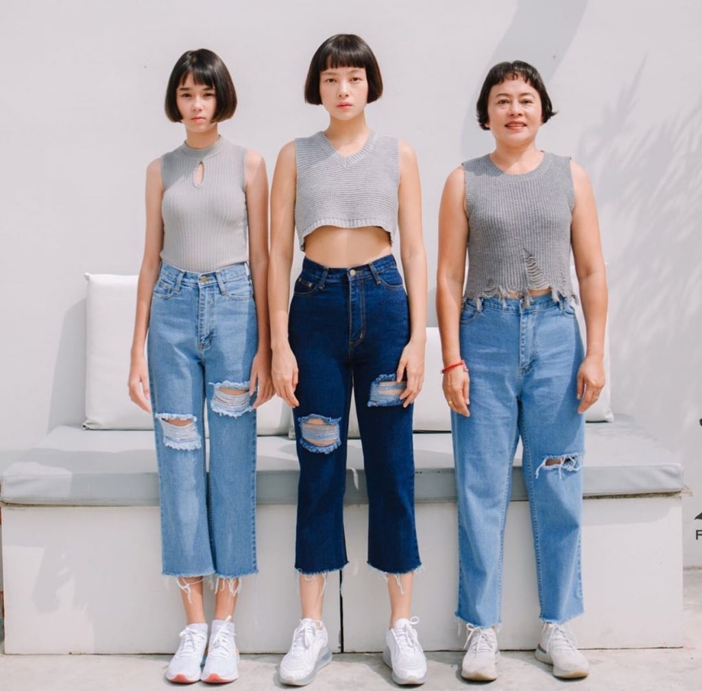 กางเกงยีนส์ทรงบอย ใส่ได้ทั้งผอมและอ้วน