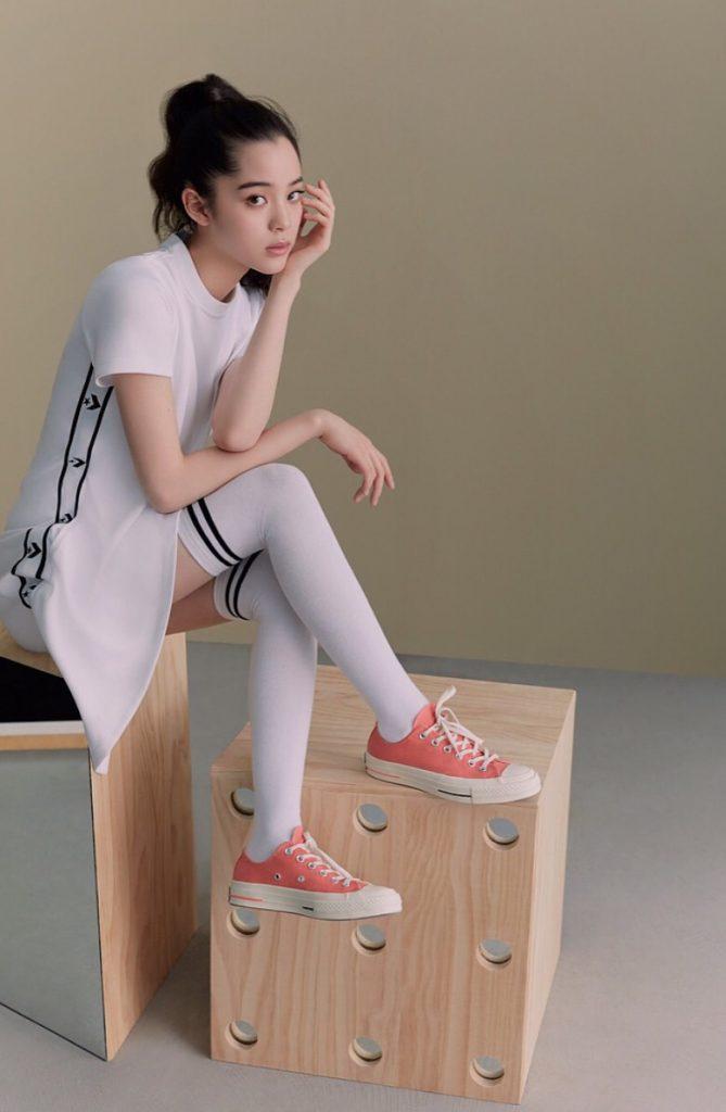 รองเท้าคอนเวิร์ส (Converse All Star) สาวหวานใส่สีหวาน