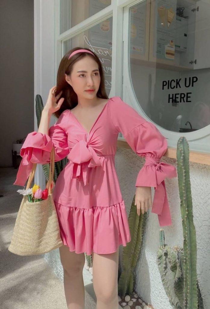 เดรสสีชมพู สวยน่ารัก