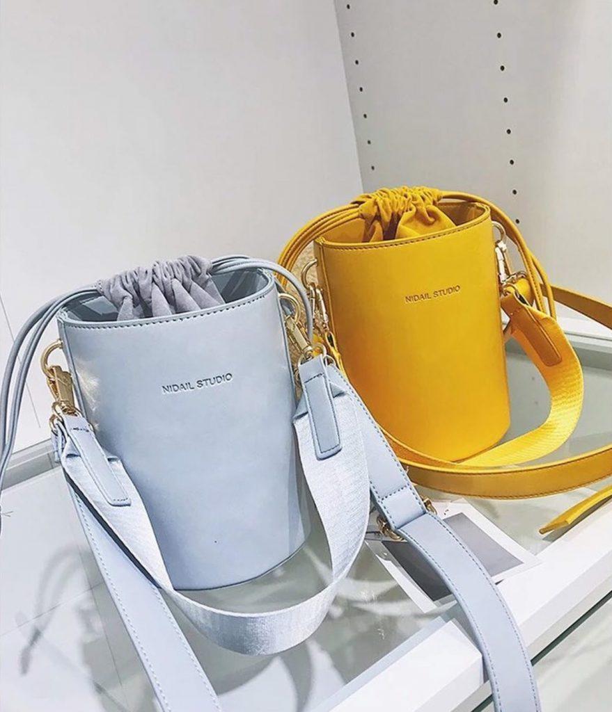 กระเป๋าทรงถัง สีสวย