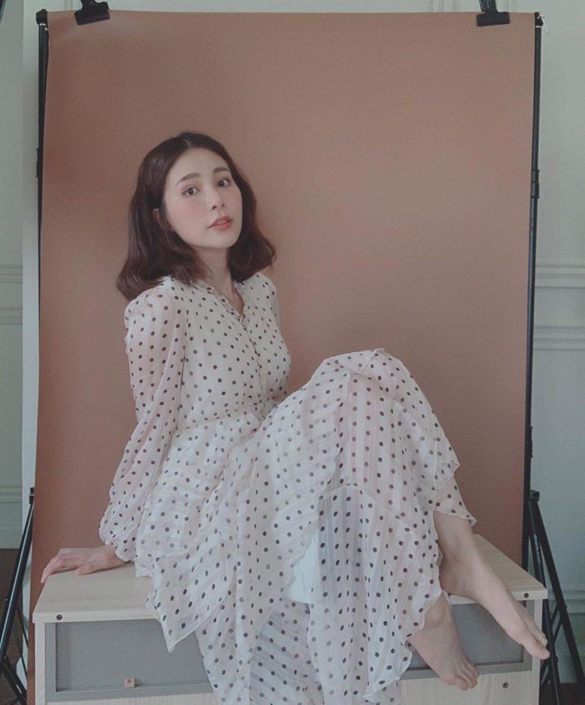 ชุดเดรสผ้าชีฟอง แบบยาวใส่แล้วสวยมาก