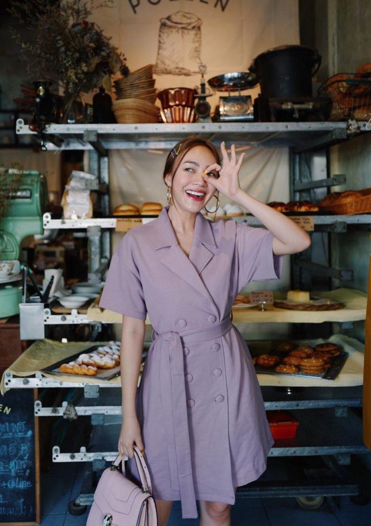 เดรสสีม่วง (Purple dress) สวยสุภาพไปอีก