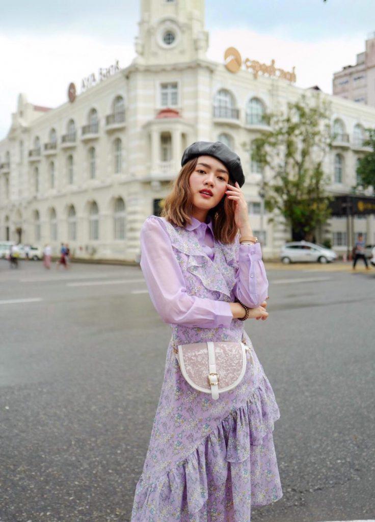 เดรสสีม่วง (Purple dress) สวยใส่สุดๆ