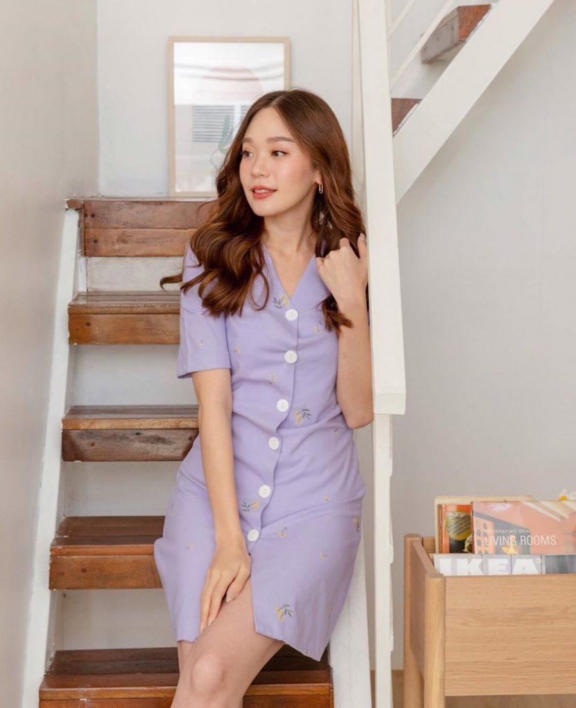 เดรสสีม่วง (Purple dress) ละมุนสุด
