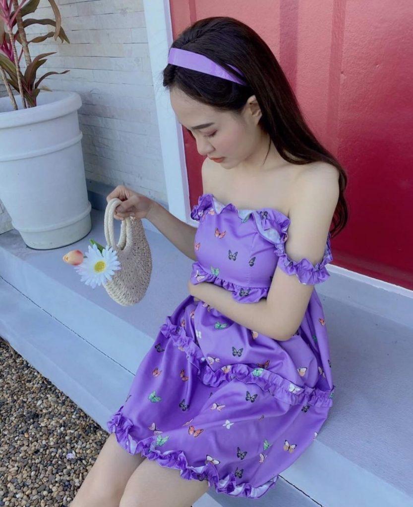 เดรสสีม่วง (Purple dress) แบบน่ารักๆ