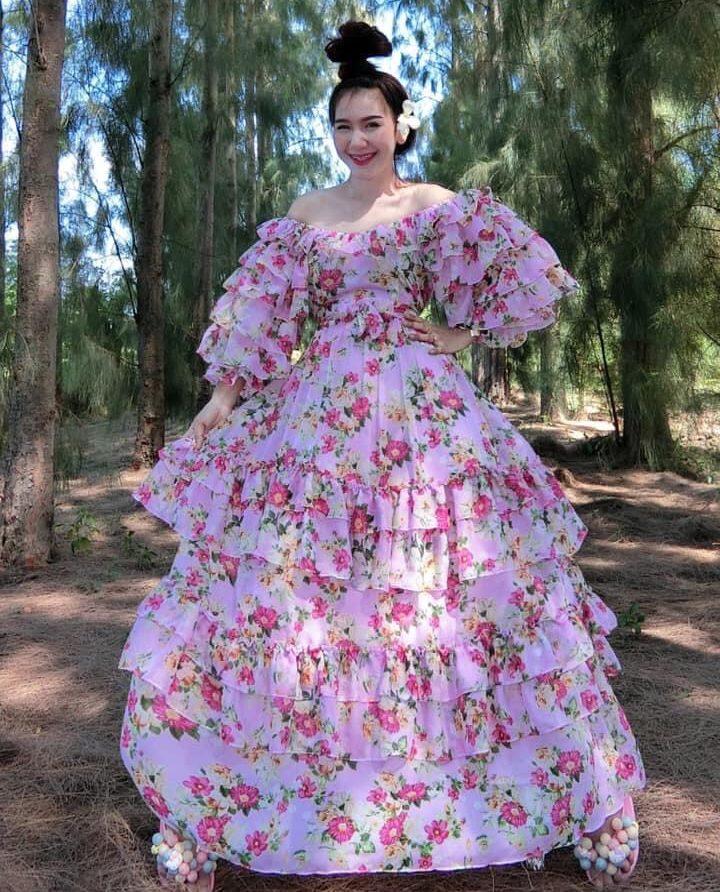 แฟชั่น เดรสยาวสวยๆ (Maxi dress) เวอร์วังอลังการ ใครใส่ก็สวย