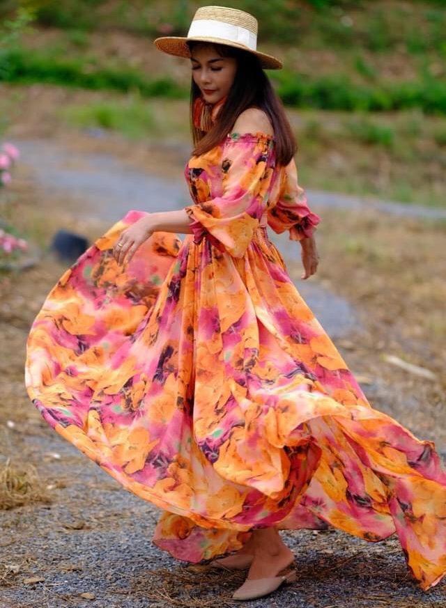 แฟชั่น เดรสยาวสวยๆ (Maxi dress) ไอเทมสวยสุดปัง
