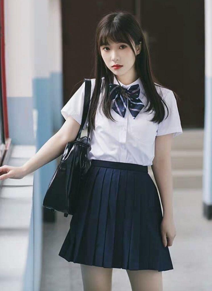 ชุดนักศึกษาญี่ปุ่น แบบหวานๆ