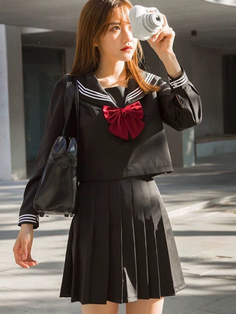 ชุดนักศึกษาญี่ปุ่น สีดำสวยเท่