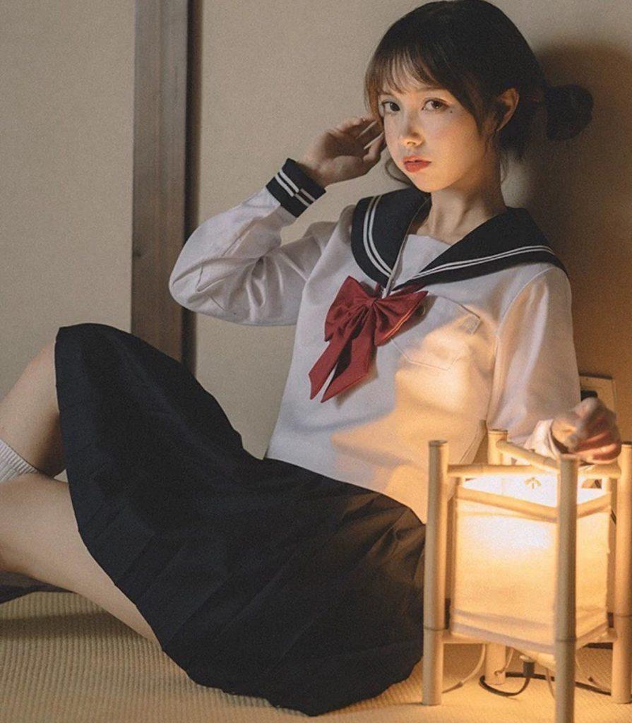 ชุดนักศึกษาญี่ปุ่น แบบน่ารักใส่แบ๊วคูลสุดคิ้วท์
