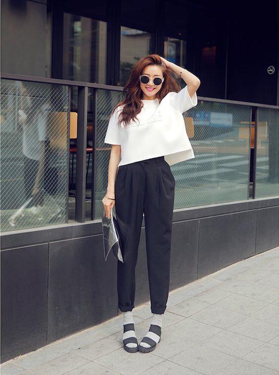 เสื้อผ้าโทนสีขาว แต่งง่ายๆก็ได้ลุคสวย