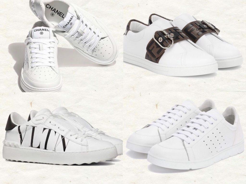 มัดรวมแฟชั่น รองเท้าผ้าใบสีขาว 2020