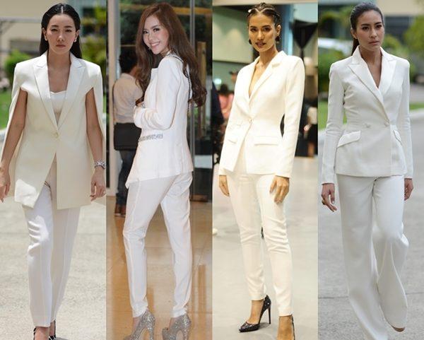 ชุดสูทสีขาว สวยๆ ใส่ได้หลายโอกาส
