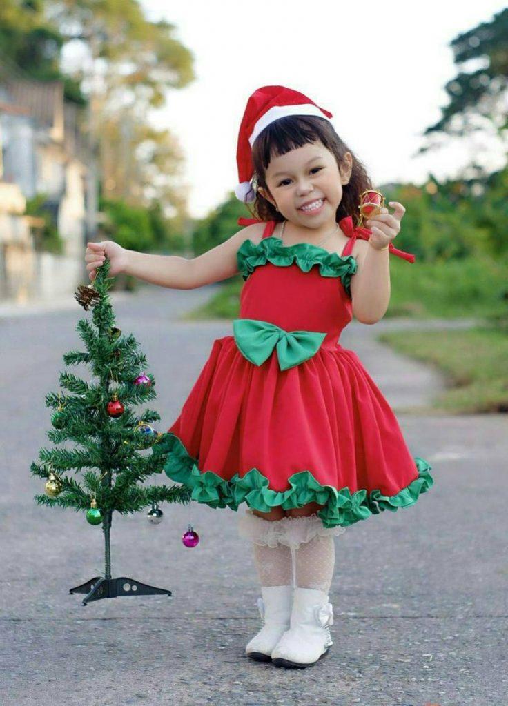 ชุดคริสต์มาสเด็กแฟนซีน่ารักๆสำหรับเด็กเล็ก