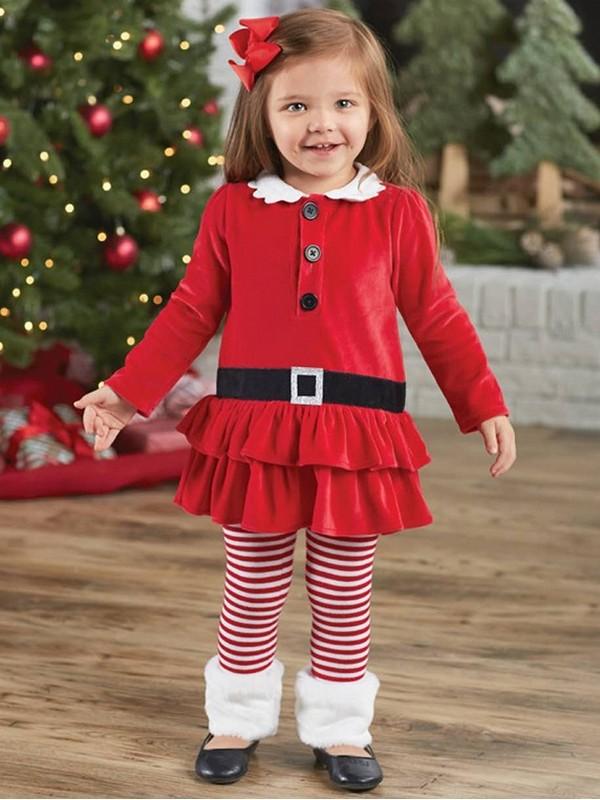 ชุดคริสต์มาสเด็ก สีแดงแรงดี