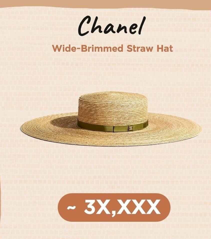 แบรนด์ดังกับ หมวกสานแบรนด์เนม