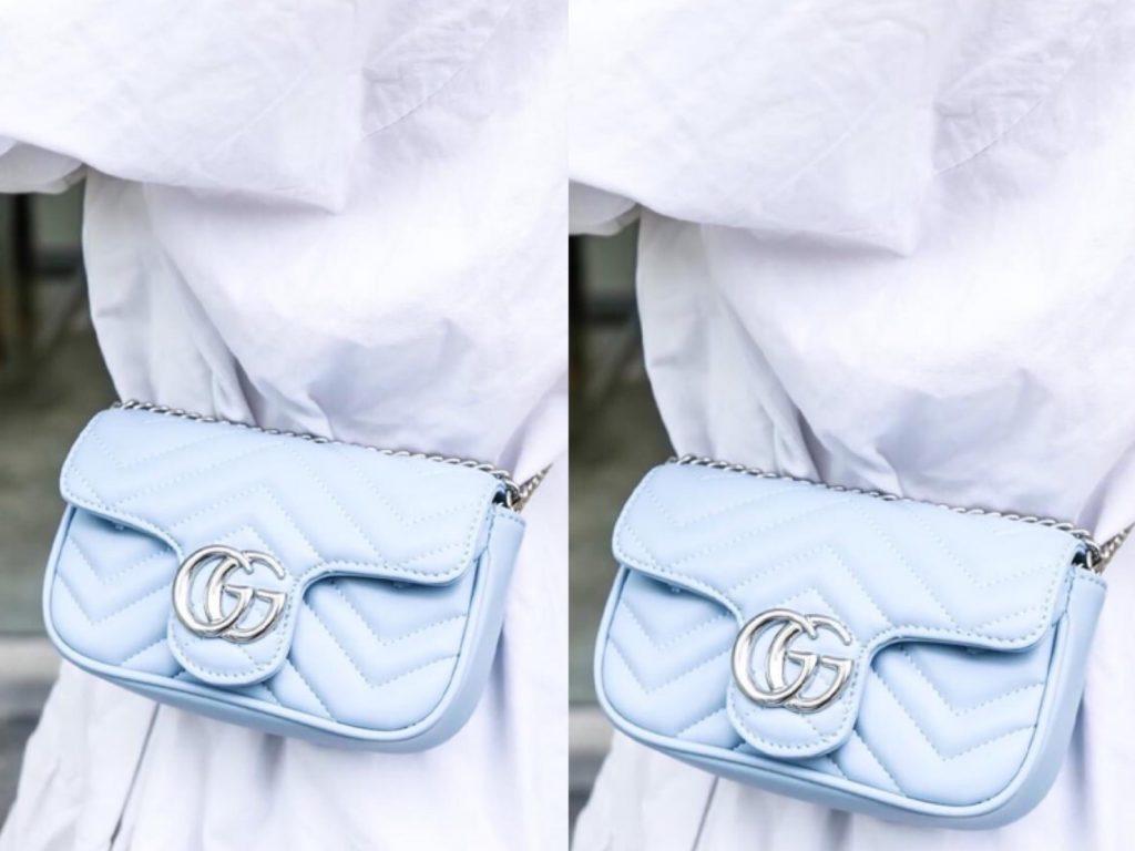 สะพายกระเป๋ากุชชี่ Gucci -(สายโซ่) แบบที่ 4 สะพายแบบคาดเอว