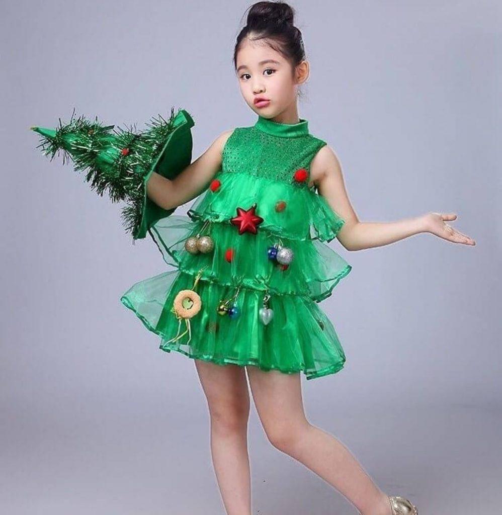 ชุดคริสต์มาสเด็กแฟนซีของเด็กผู้หญิง