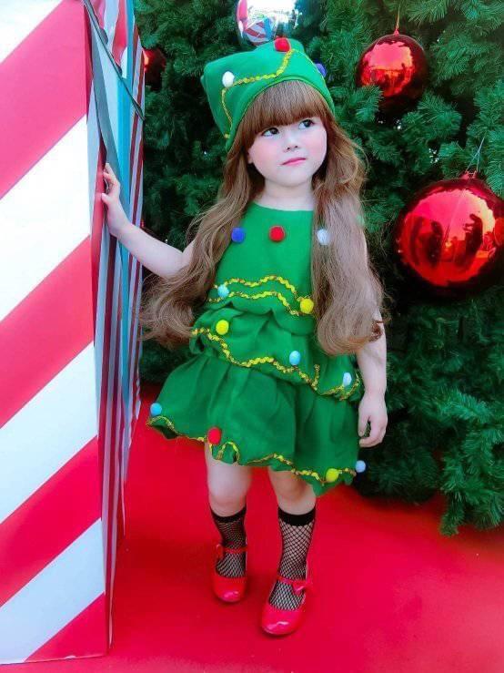 ชุดคริสต์มาสเด็กเด็กผู้หญิงน่ารักมากๆ